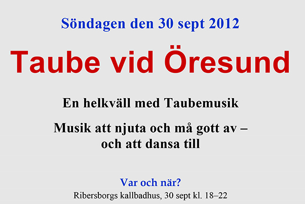 Microsoft Word - Inbjudan till Taube vid Ö-2012.doc